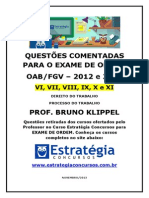 Questoes OAB 2012 2013 Comentadas Prof. Bruno Klippel