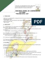 Bases del concurso de Comprensión Lectora PACHACUTEC LEE