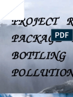 Project Report on Package Drinking Water Bottling Plant Pollution