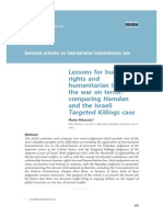 Lessons for Human Rights and Humanitarian Law in the War on Terror- Comparing Hamdan and the Israeli Targeted Killings Case