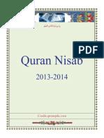 Quran Nisab 2013-2014_English