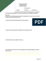 Midterm Exam in Finance 2