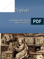 Copisti Istorie