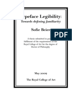 Sofie Beier Typeface Legibility 2009