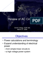 Review of AC Circuits