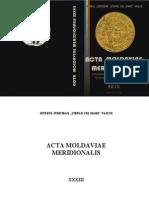 Acta Moldaviae Meridionalis, 2012