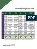 swimming program outline