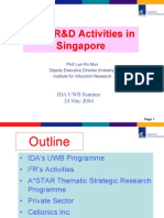 UWB Research Activities in Singapore