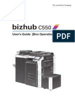 Bizhub c 550 User Guide Box Oper