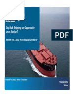 Dry Bulk Shipping-An Opportunity or an Illusion - Yu Jiang Lisarain