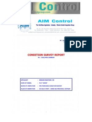 2fea234c100 Pre-Purchase Condition Survey Report on M.V XINHE   Ships   Oil Tanker