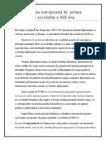Diplomatia Europeana in Prima Jum. a Sec.xix