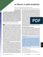 Identifying External Influences on Global Precipitation PNAS 2013
