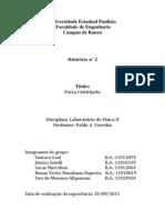 Relatório Lab. Fisica Força centripeta final