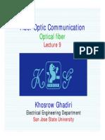 Lecture 9 -Fiber Optic Communication - Wavewguide