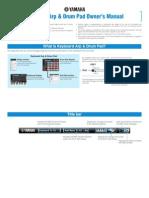 Keyboard Arp & Drum Pad Owners´s Manual