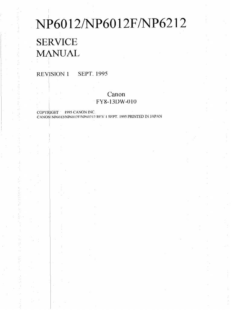 Canon np 6012 service manual [pdf document].