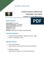 RESUMEN CURRICULAR LEONARDO CARREÑO