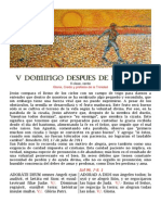 V Domingo post Epifanía. Folleto Bilingüe