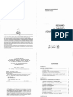 Livro - Resumo de Direito Administrativo Descomplicado 2011