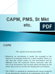 Lect 11 - FM&I - CAPM etc