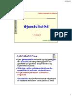 Gjeostatistike Lek 1