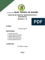 Estudio de las necesidades  agroindustriales y su incidencia en el sector  productivo en la Provincia de Manabí. Periodo septiembre-Febrero 2013.
