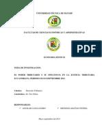 Proyecto de Derecho Tributario