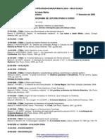 Microsoft Word - Cronograma de Leituras 1 sem 2008