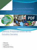 Disciplinas Preponderantes de Los Estudios Sociales