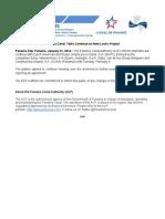 Panama Canal Authority statement | Jan. 31, 2014 (English)