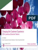 Changing the Customer Experience CEM in Practice at Deutsche Telekom