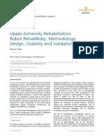 Upper Extremity Rehabilitation Robot RehabRoby Methodology, Design, Usability and Validation