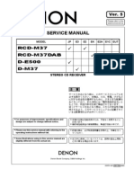Denon RCD-M37 Service Manual