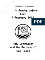 Fourth Sunday before Lent