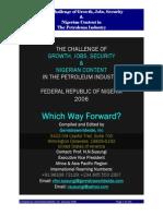 Petroleum Sector Study in Nigeria