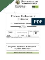 1ra Evaluación a Distancia ADO 2013 II