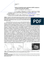 Synthesis and Characterization of potential anodic materials for SOFC´s based on La0.80Sr0.20Cr0.80Fe0.20O3 system