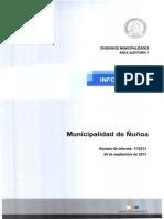 Informe Final 17-13 - Municipalidad de Ñuñoa - Programa de Concesiones y Ley N° 20.500 - Septiembre 2013