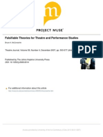 McConachie - Falsifiable Theories for Theatre and Performance Studies