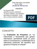 FINANZAS Evaluación de Proyectos