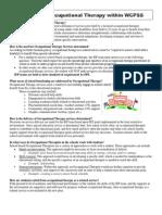 role of ot in wcpss