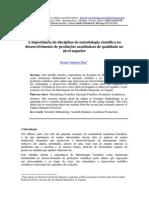 A Importancia Metodologia Da Pesquisa e Do Trabalho Cientifico