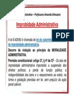 Direito Administrativo - IMPROBIDADE (1)