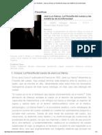 Revista Observaciones Filosóficas - Jean-Luc Nancy; La Filosofía del cuerpo y las metáforas de la enfermedad