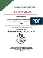 Dampak Suplementasi Probiotik -Bacillus Sp.- Selama Perkembangan Larva Gilthead Sea Bream -Sparus Aurata, L.