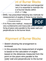 Burner Block Alignment