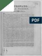 Patronato en La Nacion 1833