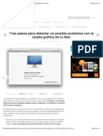 Tres pasos para detectar un posible problema con la tarjeta gráfica de tu Mac