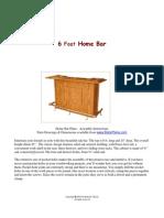 6Ft Home Bar
